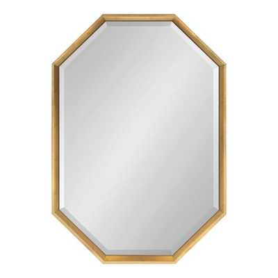 Gatsby Elongated Octagon Modern Beveled Accent Mirror in Gold - AllModern