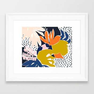 Modern flowers - design for a happy life Framed Art Print - Society6