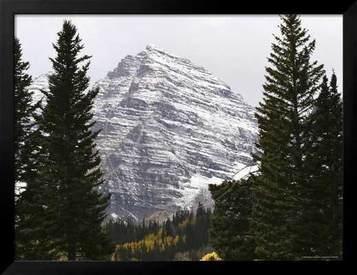The Majestic Maroon Bells are Surrounded by Aspen and Evergreen Trees 16 x 12 - art.com