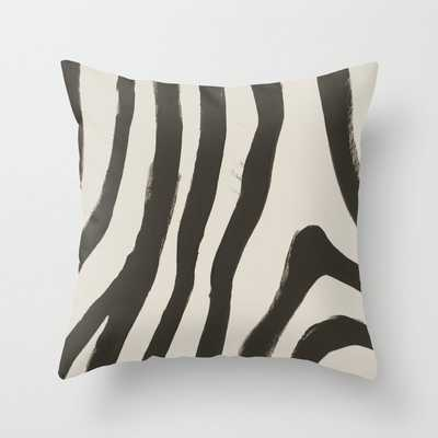 Painted Zebra Throw Pillow, 16 x 16 with pillow insert - Society6