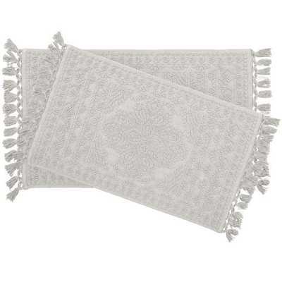 French Connection Dekker Rectangular 100% Cotton Solid 2 piece Bath Rug Set - Wayfair