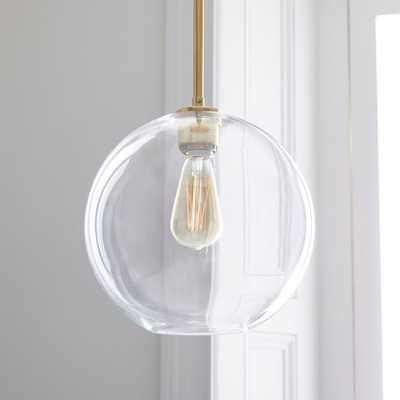 Sculptural Glass Globe Pendant - Clear - West Elm