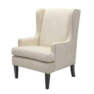 Barrett Wingback Chair in beige - Wayfair