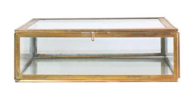 Brass & Glass Display Box - small - High Street Market