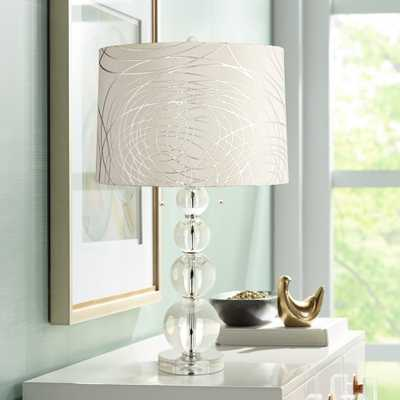 Abstract Silver Circles Stacked Crystal Spheres Table Lamp - Style # 17F44 - Lamps Plus