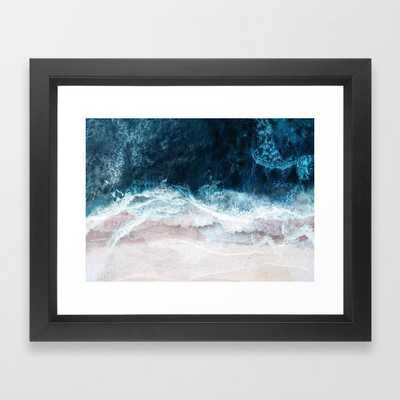 "Blue Sea II Framed Art Print 10 x 12"" black vector frame - Society6"