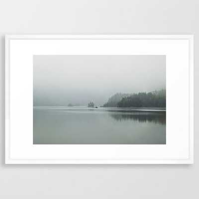 "Fog - Landscape Photography Framed Art Print - 26x38"" - Vector White frame - Society6"