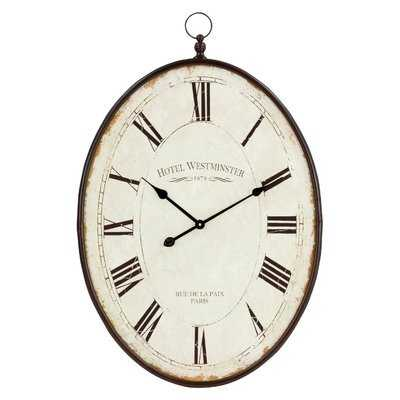 "Oversized Immanuel 36"" Wall Clock - Wayfair"