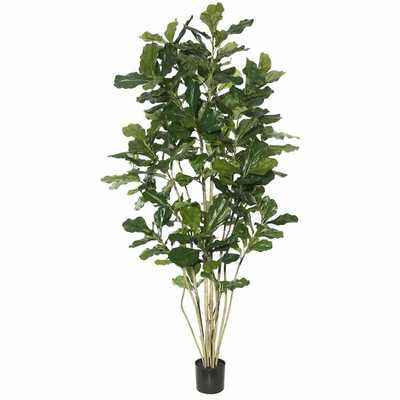 Artificial Potted Fiddle Foliage Tree in Pot - Wayfair