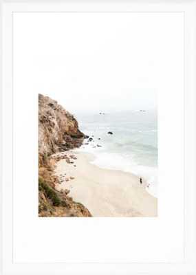 "Malibu California Beach Framed Art Print by wanderhaus SCOOP WHITE 15"" X 21"" - Society6"