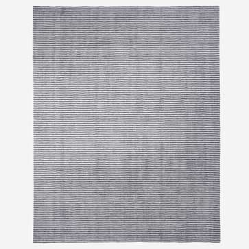 Terra Stripes Rug, Slate, 6'x9' - West Elm