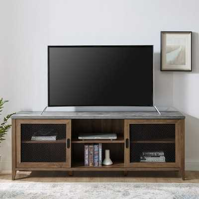 The Gray Barn 70-inch Sliding Mesh Door TV Stand Console - Overstock