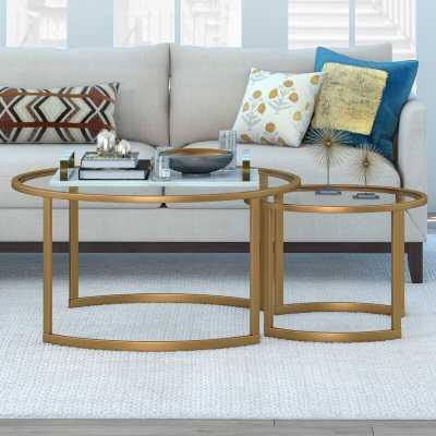 Leatherman Extendable Sled 2 Nesting Tables Coffee Table Set - Wayfair