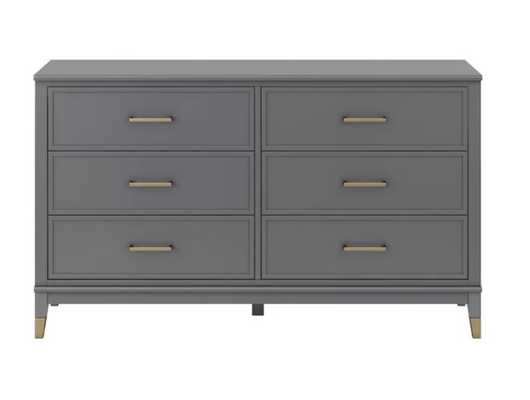Westerleigh 6 Drawer Double Dresser -Graphite Gray - Wayfair
