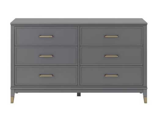 Westerleigh 6 Drawer Double Dresser -Graphite Gray - Wayfair