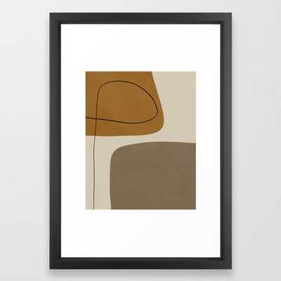 Organic Abstract Shapes #1 Framed Art Print - Society6