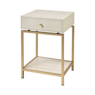 CLANCY ACCENT TABLE IN CREAM - Rosen Studio