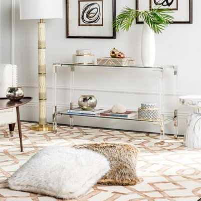Console Table; Silver - Perigold