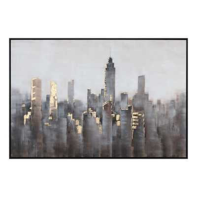 SKYLINE HAND PAINTED CANVAS - Hudsonhill Foundry
