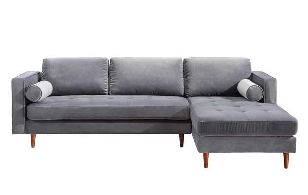 Cosmic Morgan Velvet Sectional RAF - Maren Home