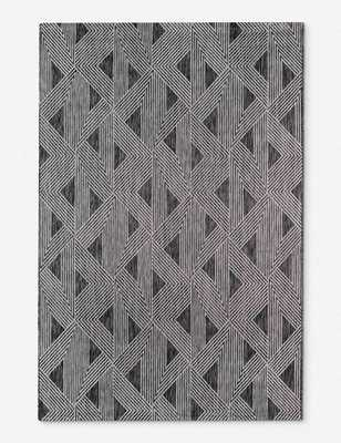 "JECA INDOOR/OUTDOOR RUG, CHARCOAL 9'3""X12'6"" - Lulu and Georgia"