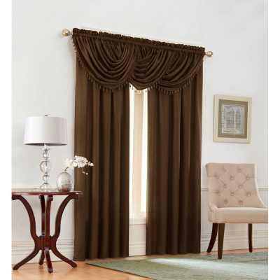 Shenandoah 5 Piece Solid Room Darkening Rod Pocket Curtain Panels Set - Wayfair