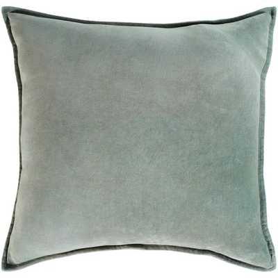 Cotton Velvet Pillow in Sea Foam - Shell Only - Burke Decor