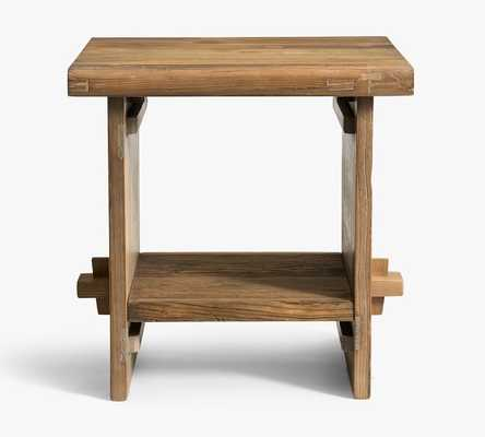 "Easton 24"" Reclaimed Wood End Table - Pottery Barn"