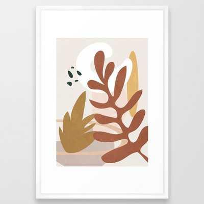 Abstract Plant Life II Framed Art Print - Society6