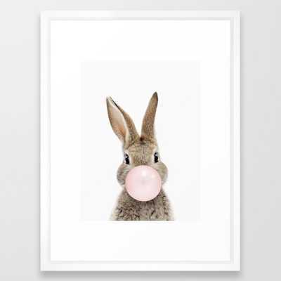 Bubble Gum Bunny Framed Art Print - Society6