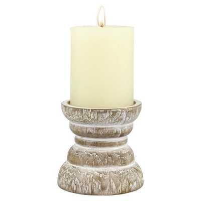 Wood Candlestick Holder - Birch Lane