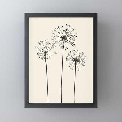 Dandelions Framed Mini Art Print - Society6