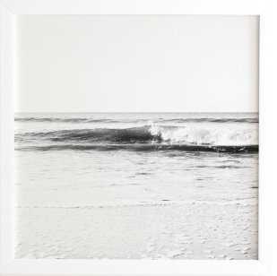 SURF BREAK - White Framed Wall Art - Wander Print Co.