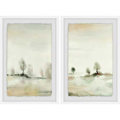 "'Solstice II' 2 Piece Framed Watercolor Painting Print Set 24""H x 16""W - Wayfair"