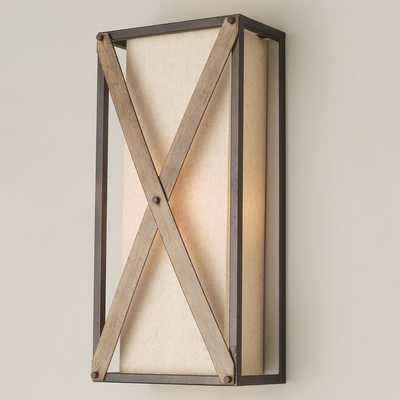 RUSTIC CROSSED SCONCE - Shades of Light
