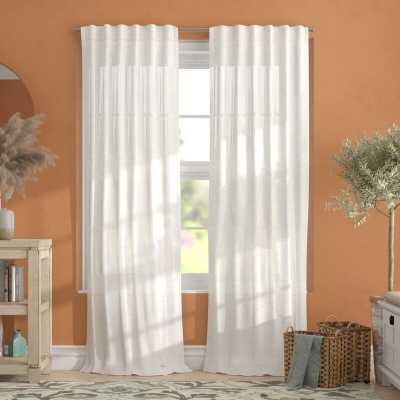"Leon Solid Color Sheer Tab Top Curtain Panels (set of 2), 54""W x 108""L - Wayfair"