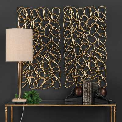 IN THE LOOP METAL WALL PANELS, S/2 - Hudsonhill Foundry