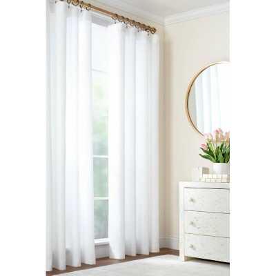 Lush 100% Linen Solid Color Semi-Sheer Single Curtain Panel  Lush 100% Linen Solid Color Semi-Sheer Single Curtain Panel  Lush 100% Linen Solid Color Semi-Sheer Single Curtain Panel Lush 100% Linen Solid Color Semi-Sheer Single Curtain Panel - Perigold