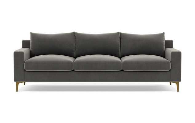 Sloan Sofa in Galaxy Performance Velvet - Interior Define