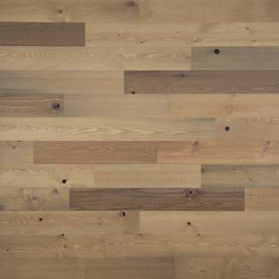 "5"" x 42"" Reclaimed Peel and Stick Solid Wood Wall Paneling, 40 sq ft per pack (price per sq/ft) - Wayfair"