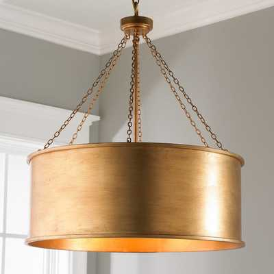LUXE PATINA METAL DRUM SHADE PENDANT - LARGE - Shades of Light