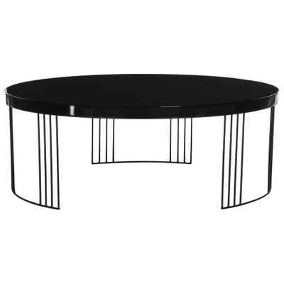 Keelin Mid Century Scandinavian Lacquer Black Coffee Table - Home Depot