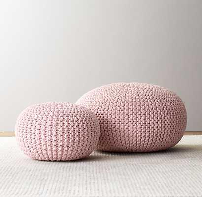 Knit cotton round pouf, large - petal - RH Baby & Child