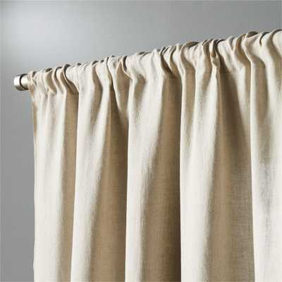 """natural linen curtain panel 48""""x108"""""" - CB2"