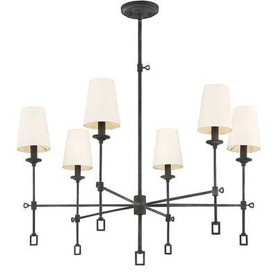 GEOMETRIC INDUSTRIAL SHADED CHANDELIER - 6 LIGHT - Shades of Light