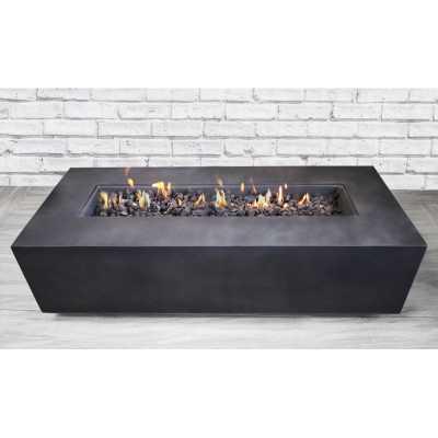 Santiago Concrete Propane Gas Fire Pit Table, Charcoal - Wayfair