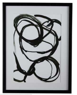 MoDRN Scandinavian Splattered Swirl Framed Wall Art - Hayneedle