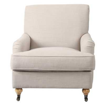 Charles Natural Linen Arm Chair - Home Depot