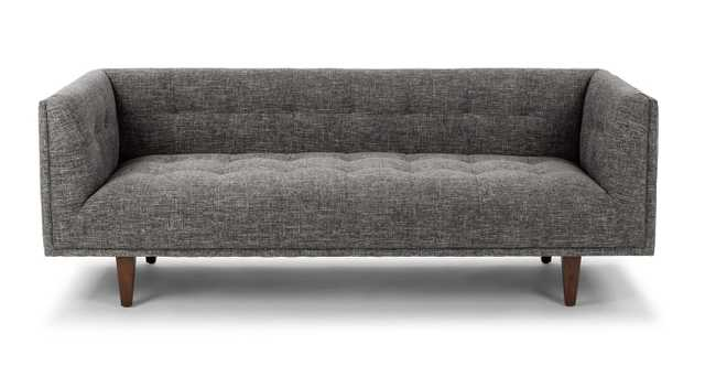 Cirrus Sofa in Briar Gray and Walnut - Article