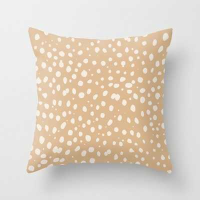 Leopard Throw Pillow by Sorbetedelimon 20 x 20 - Society6